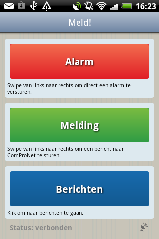 Basic Alert Screen: